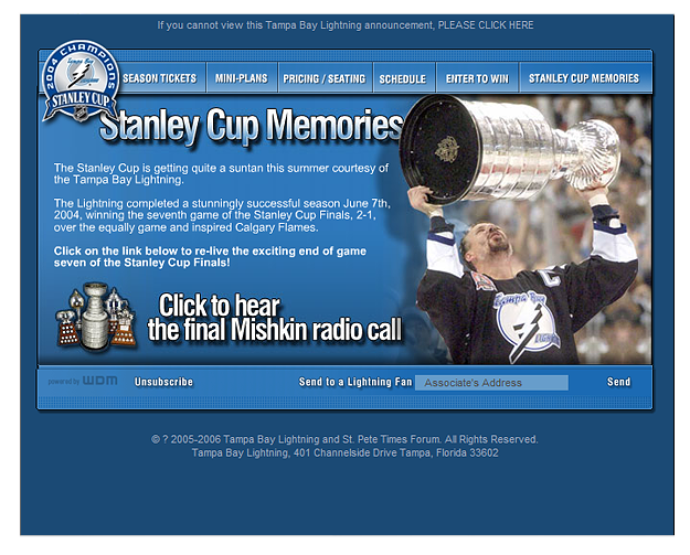 WDM | Client: Tampa Bay Lightning